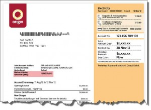 Origin Energy Bill